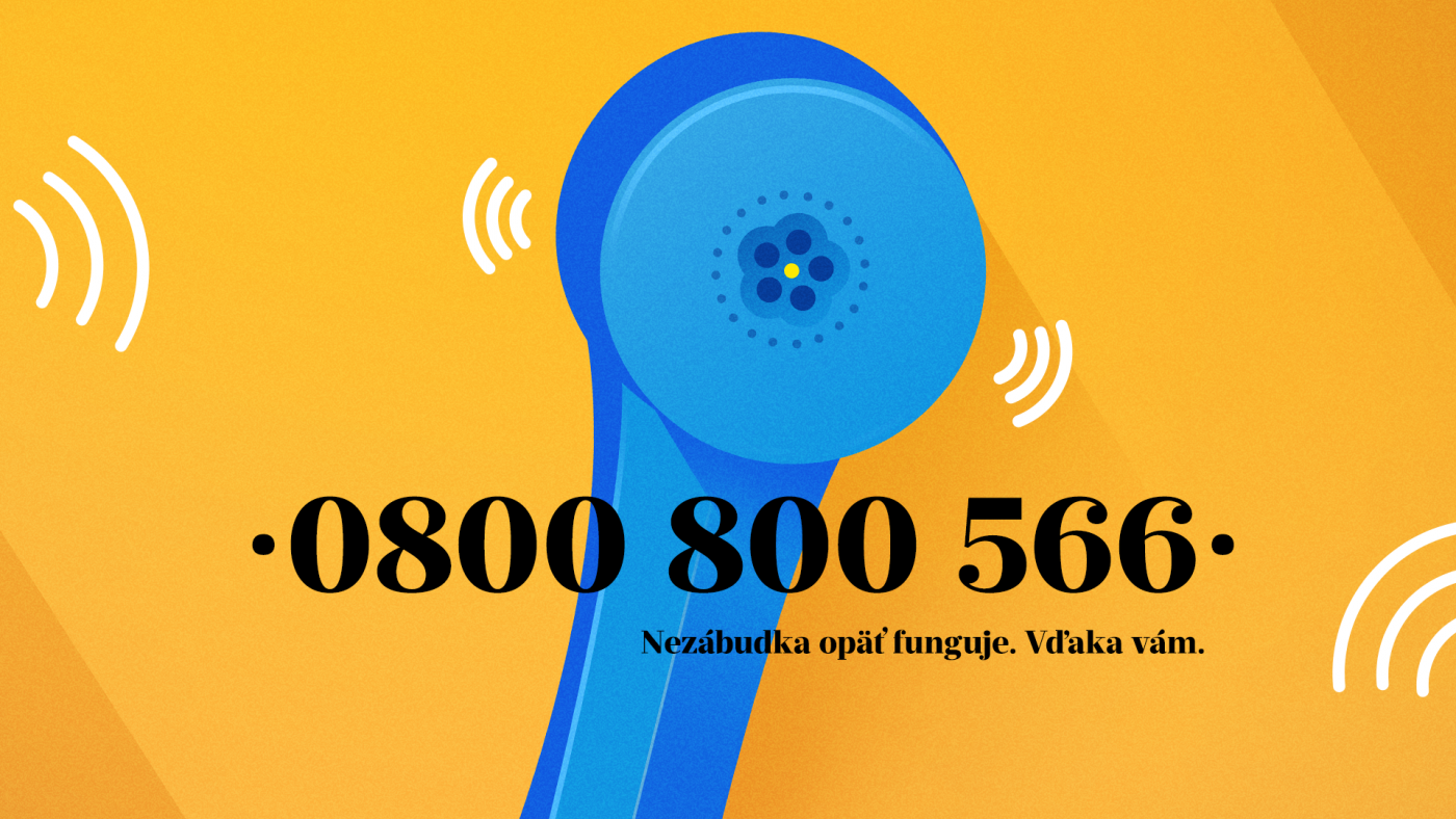 Emotional support hotline Nezábudka operating again after 13 years of silence