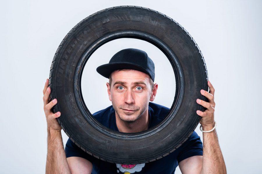 Stevo a pneu
